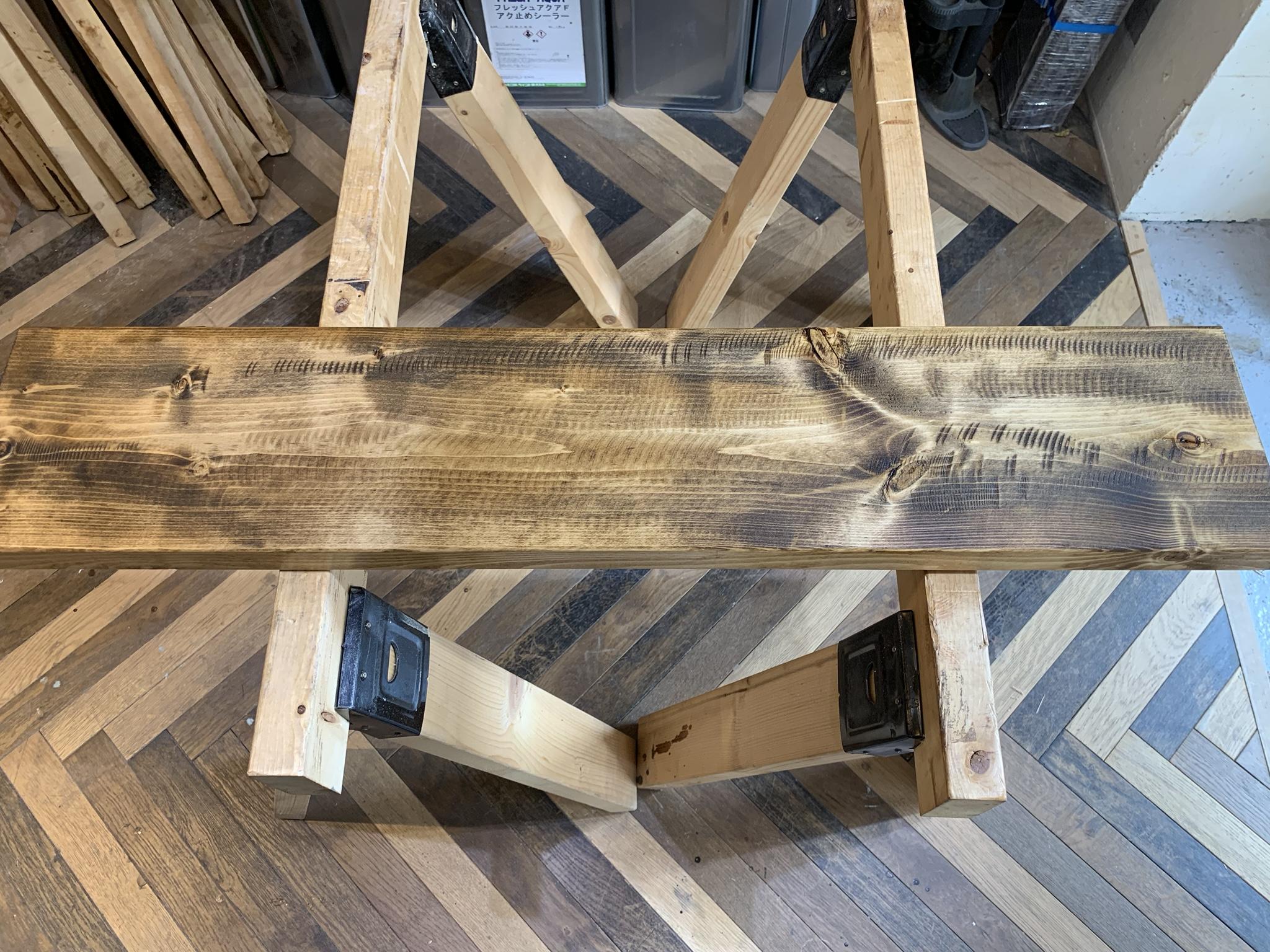 ホームセンターDIYで出来る木材ヴィンテージ加工